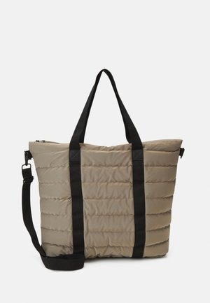TOTE QUILTED UNISEX - Bolso shopping - velvet taupe