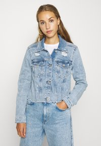 Hollister Co. - CROPPED JACKET - Denim jacket - blue denim - 0