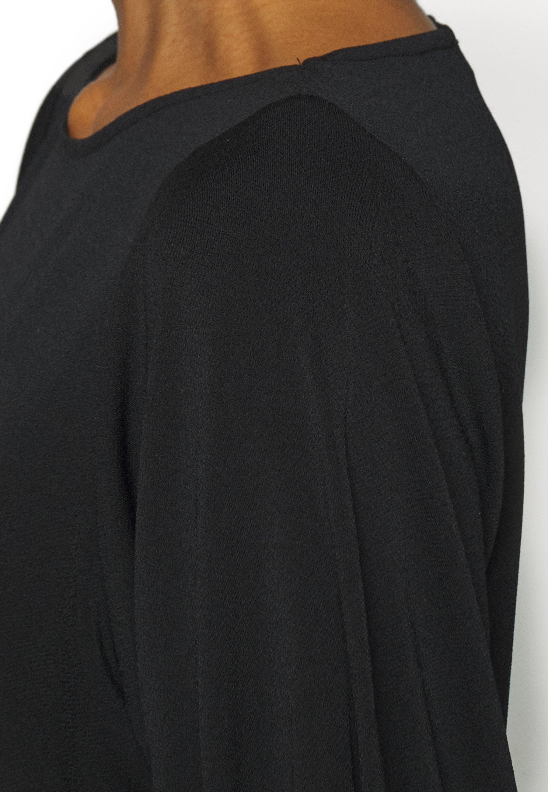 Opus Spela - T-shirts Med Print Black/svart