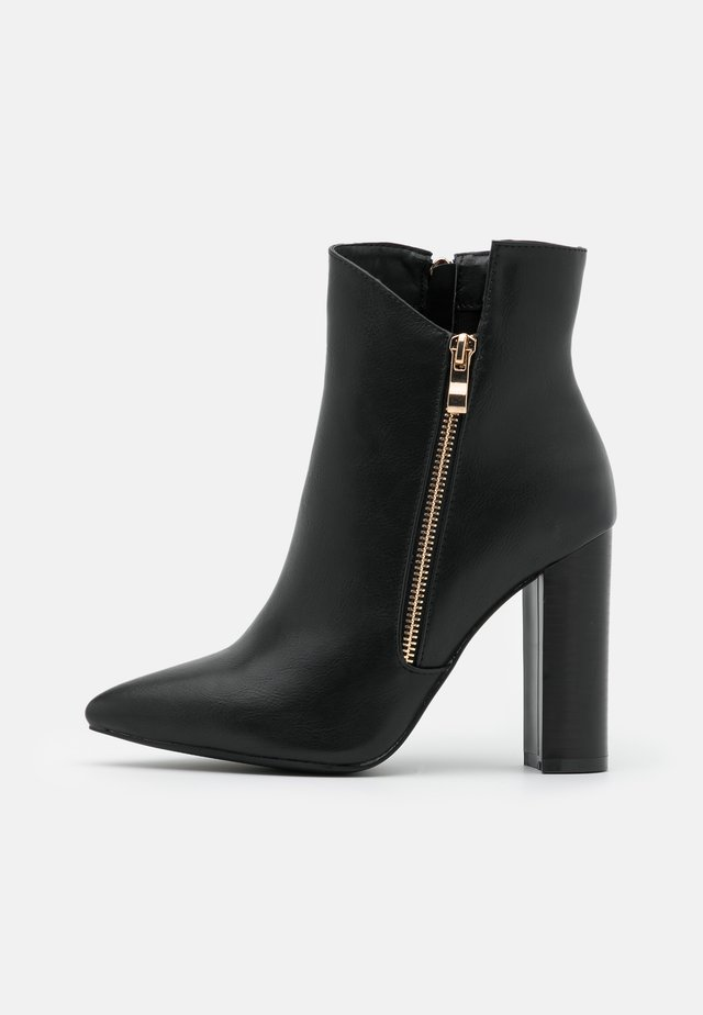 TOP UP KEYLA WIDE FIT  - Ankelboots med høye hæler - black