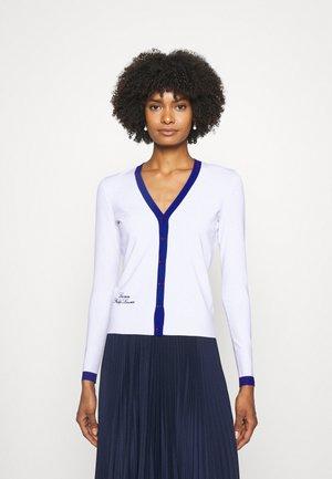 DENZEL LONG SLEEVE - Zip-up sweatshirt - white/sapphire star