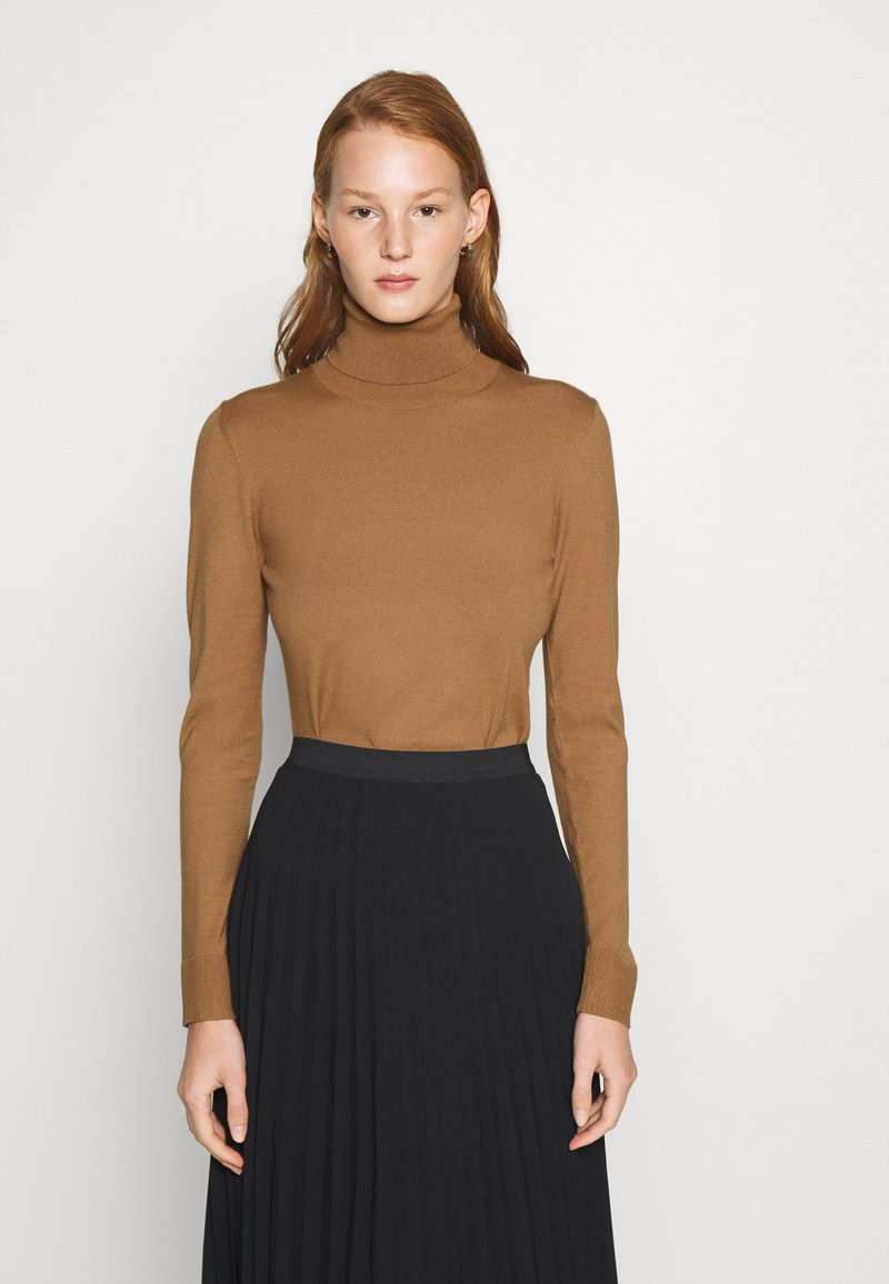 Sisley - TURTLE NECK - Jumper - beige