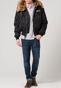 Alpha Industries - HOODED CUSTOM - Light jacket - black/reflective - 1