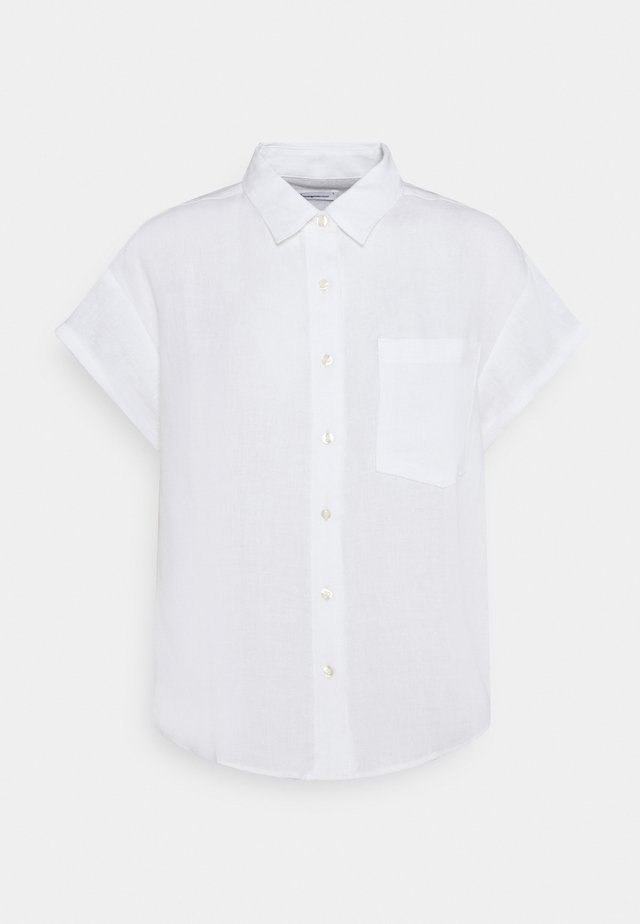 ASTER FOLD UP SHORT SLEEVE VEGAN - Paitapusero - bright white