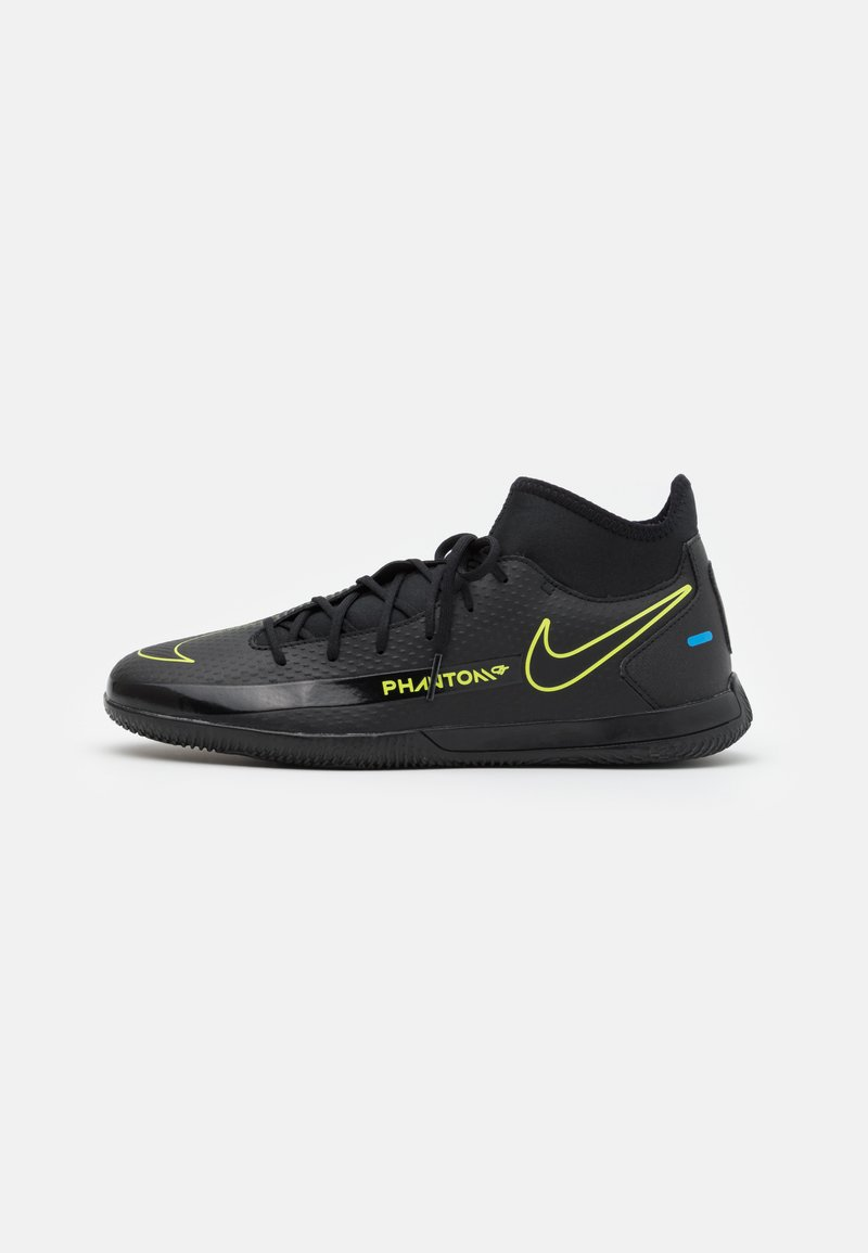 Nike Performance - PHANTOM GT CLUB DF IC - Indoor football boots - black/cyber/light photo blue