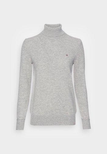 ROLL NECK SWEATER - Jumper - light grey heather