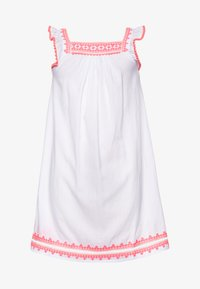 Sunuva - GIRLS EMBROIDERED FLUTTER SLEEVE DRESS - Day dress - white - 0
