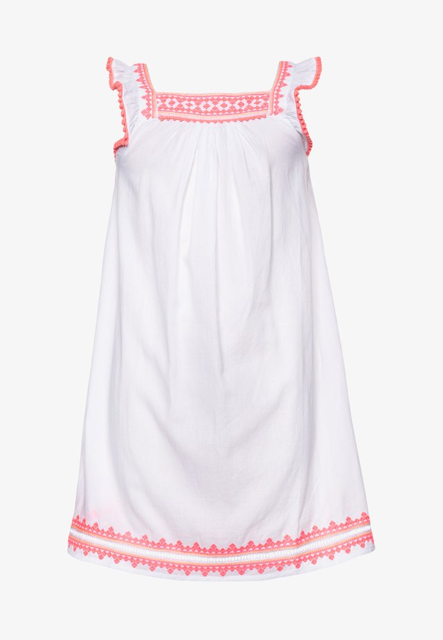 GIRLS EMBROIDERED FLUTTER SLEEVE DRESS - Vardagsklänning - white