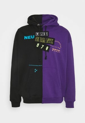 S-UMMER-SPLIT-N1 SWEAT-SHIRT UNISEX - Hoodie - black/purple