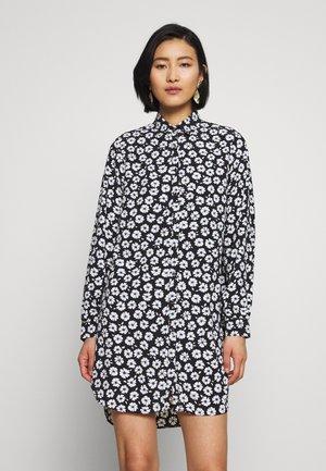 COBALT DAISY LONGLINE - Skjorte - black