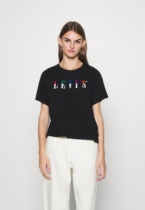 GRAPHIC VARSITY TEE - T-shirt z nadrukiem - multicolor/black