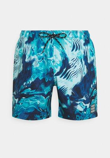 SWIM MEN REFLECTION MID - Swimming shorts - blue combo