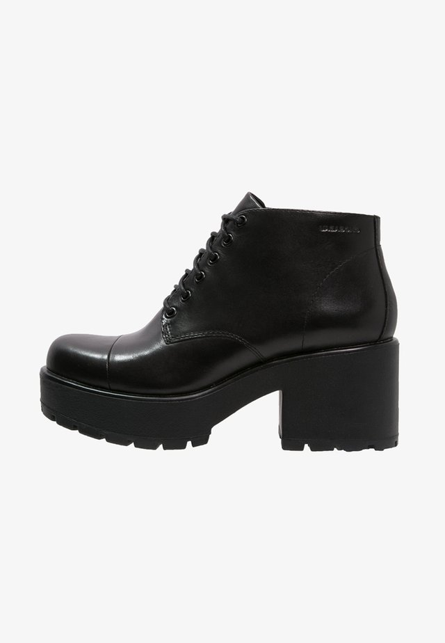 DIOON - Bottines à plateau - black