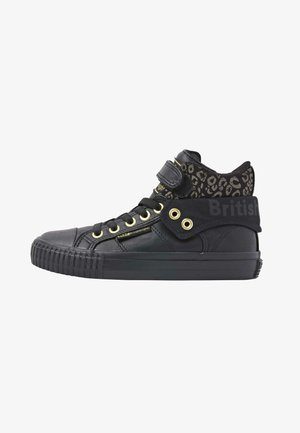 ROCO - Sneakers hoog - black gold leopard black