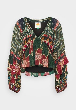 FLORAL SHINE BLOUSE - Blouse - multi