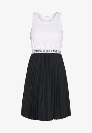 LOGO ELASTIC PLEATED TANK DRESS - Jersey dress - black