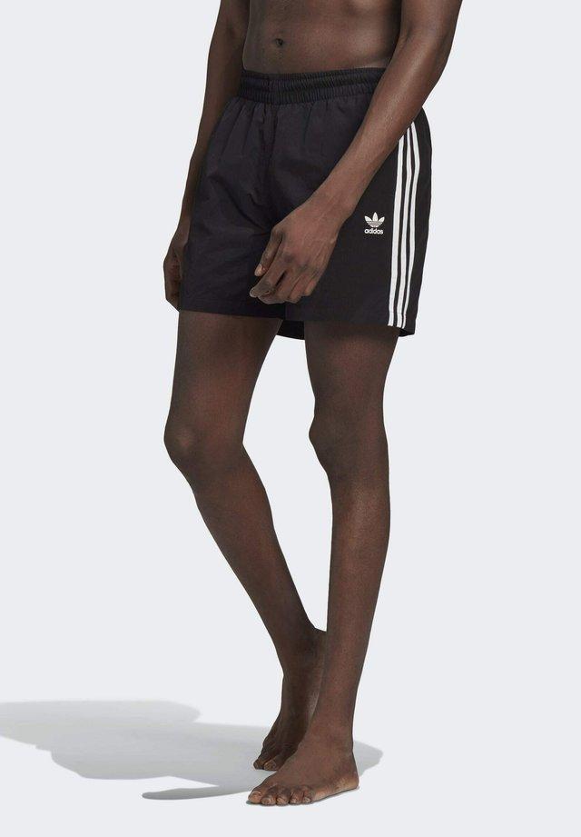ADICOLOR CLASSICS 3-STRIPES SWIM SHORTS - Swimming shorts - black