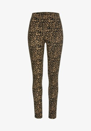 Leggings - Trousers - camelfarben-schwarz
