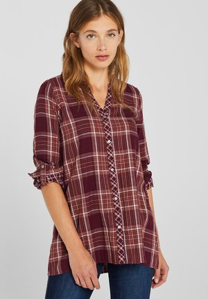 Blouse - burgundy red