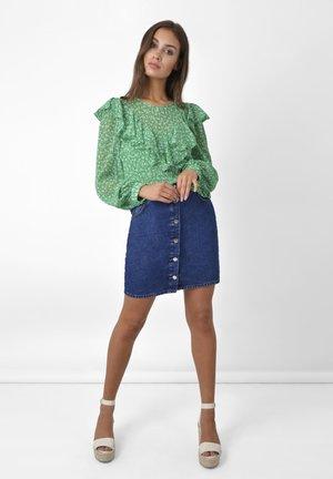 Mini skirt - blue denim