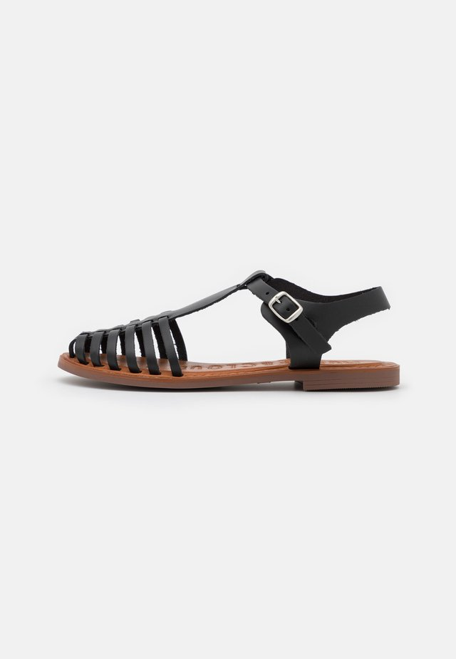 TULE - Sandaalit nilkkaremmillä - black