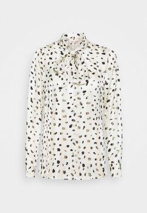 BLOUSE STRIPE SPOT - Button-down blouse - off white
