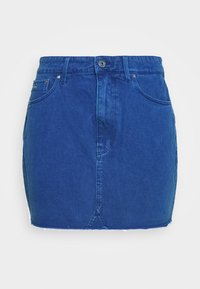 3301 HIGH MINI  RIPPED - Denim skirt - deep true blue