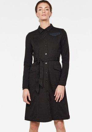 HA ARMY - Shirt dress - black