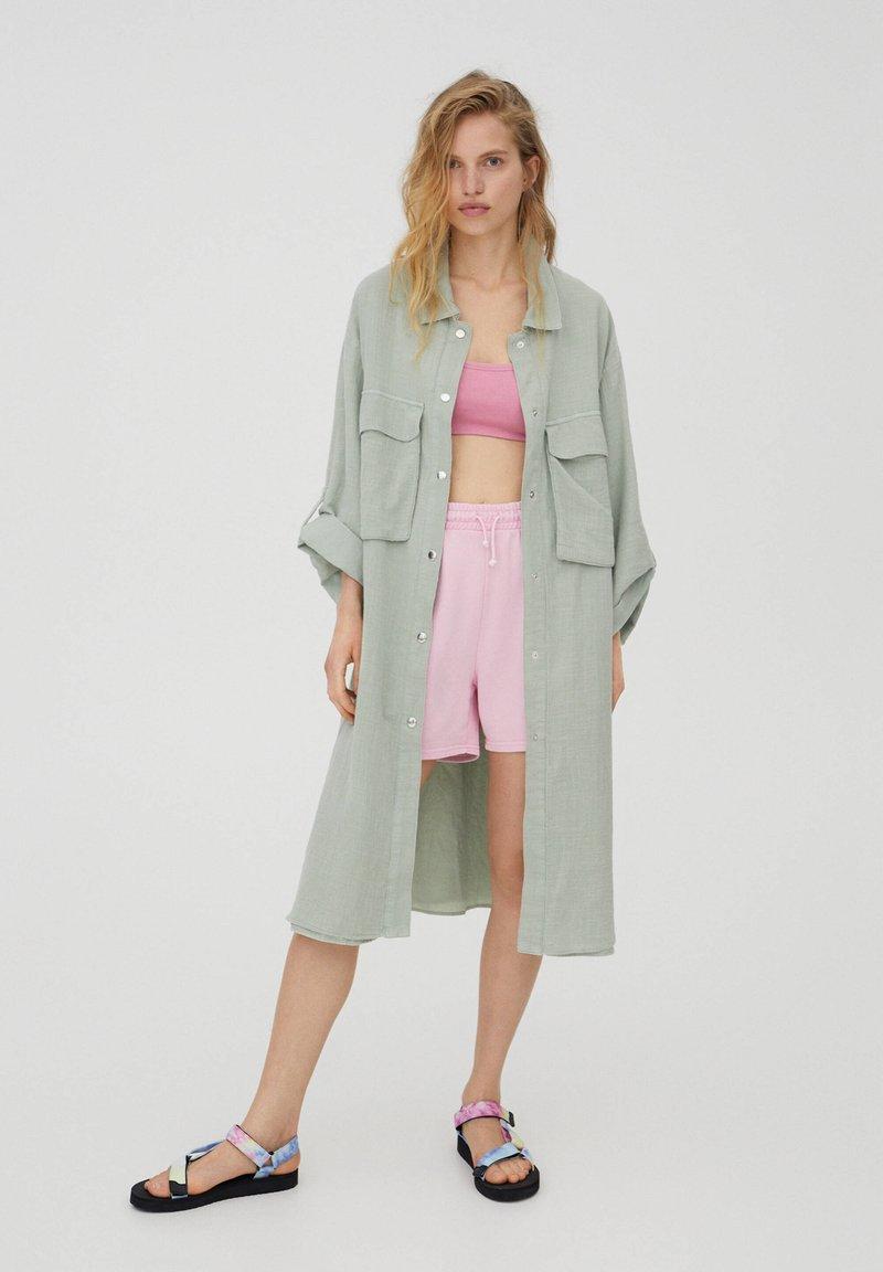 PULL&BEAR - Short coat - green