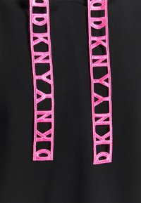 DKNY - LOGO LACE DRAWCORD CROPPED SHORT SLEEVE HOODIE - Sweatshirt - black - 2
