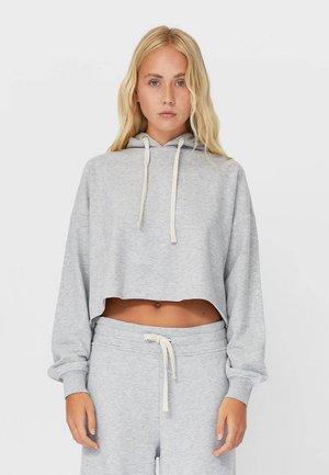 BASIC- MIT KAPUZE  - Hoodie - grey