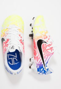 Nike Performance - VAPOR 13 ACADEMY NEYMAR FG/MG - Moulded stud football boots - white/black/racer blue/volt - 0