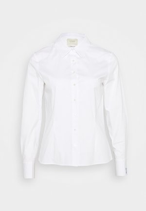 SLIM FIT CLASSIC SHIRT - Button-down blouse - white