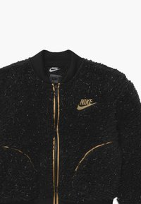 Nike Sportswear - SHERPA SHINE - Bomber Jacket - black/gold - 2
