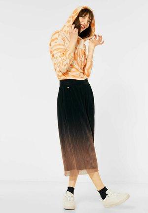 MIT FARBVERLAUF - Pleated skirt - blau