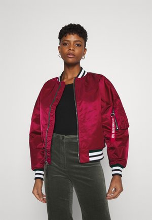 TIPPED - Bomber Jacket - major red