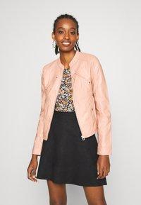 Vero Moda - VMFAVODONA - Faux leather jacket - mahogany rose - 0