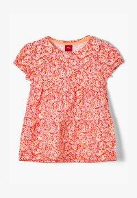 s.Oliver - MIT BLUMENMUSTER - Print T-shirt - orange floral print - 0