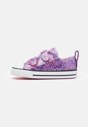 CHUCK TAYLOR ALL STAR COATED GLITTER - Sneaker low - bold pink/white/black