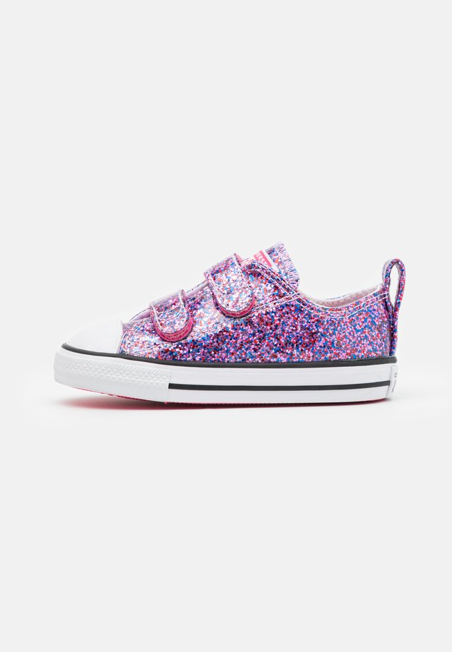CHUCK TAYLOR ALL STAR COATED GLITTER - Trainers - bold pink/white/black