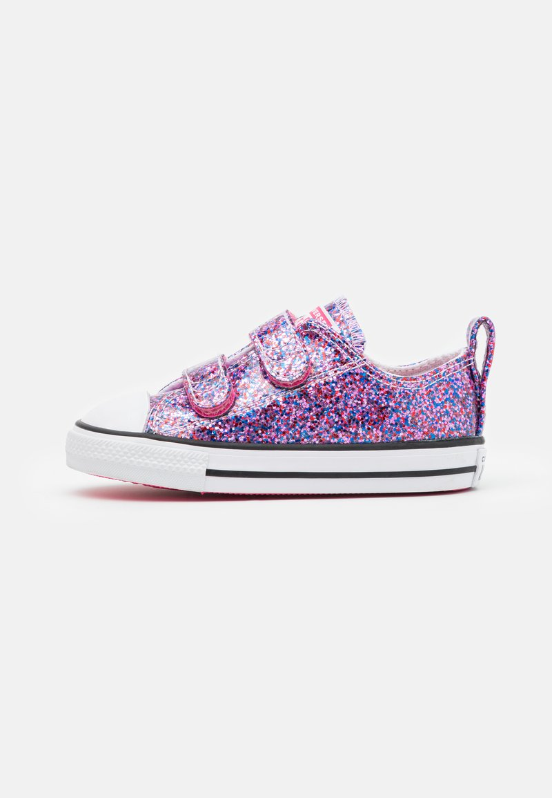 Converse - CHUCK TAYLOR ALL STAR COATED GLITTER - Tenisky - bold pink/white/black