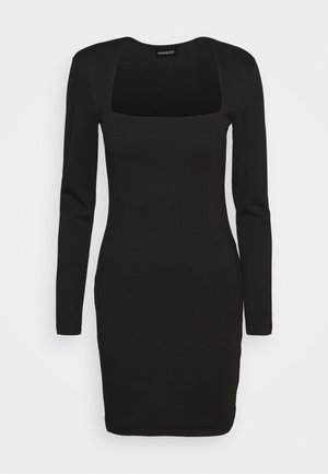 PADDED SHOULDER DRESS - Jerseykjole - black