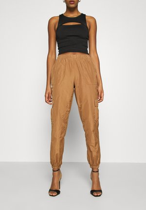 VMVELMA PANTS - Cargobukse - tobacco brown