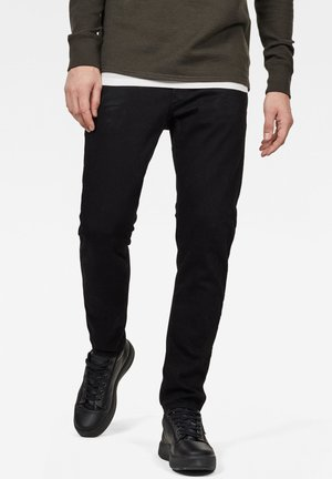 3301 SLIM - Slim fit -farkut - pitch black