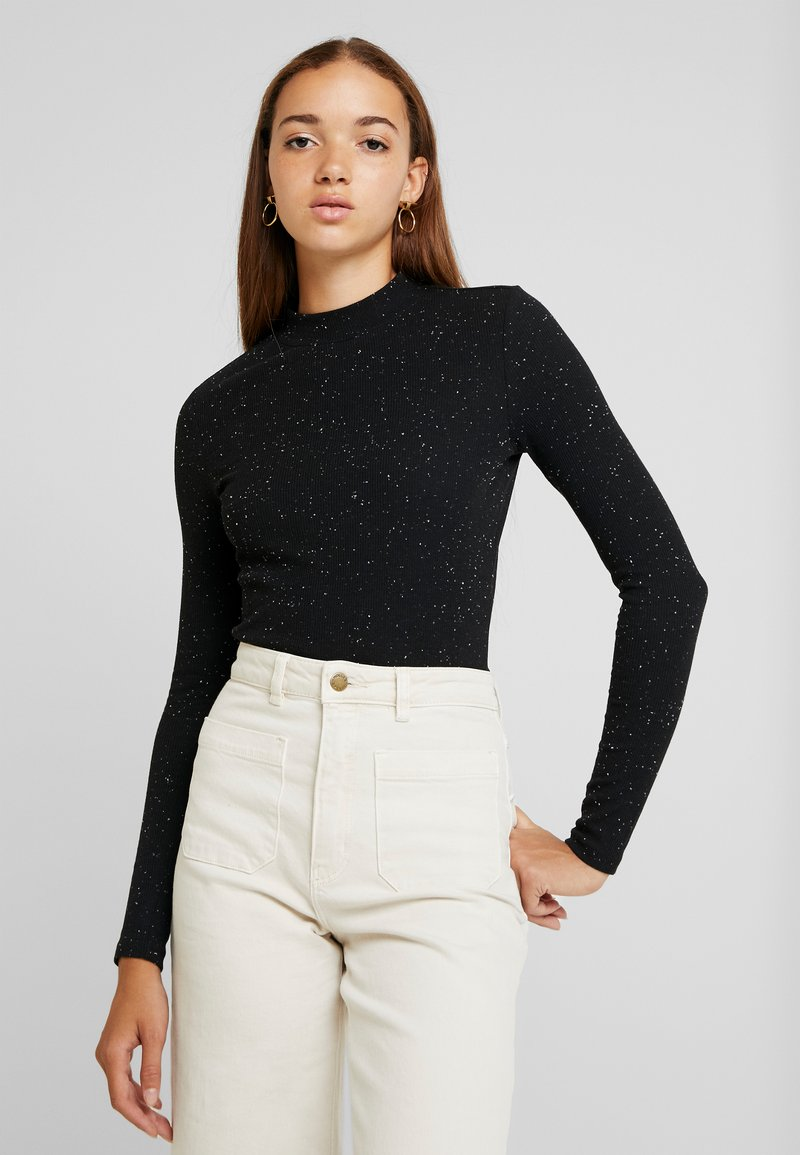 Monki - SAMINA - Long sleeved top - black