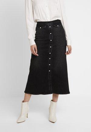 ASTRID LONG SKIRT - Denim skirt - washed black