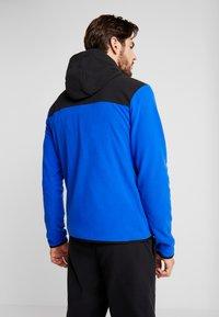 The North Face - GLACIER FULL ZIP HOODIE - Kurtka z polaru - blue/black - 2
