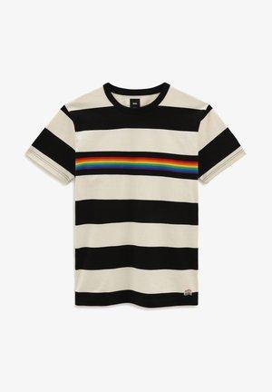 MN PRIDE RUGBY STRIPE - T-shirt con stampa - antique white/black