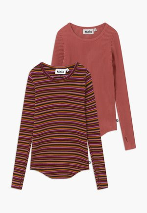 ROCHELLE 2 PACK  - Long sleeved top - raspberry jam
