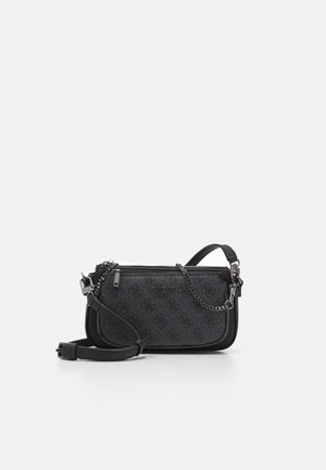 MIKA DOUBLE POUCH CROSSBODY SET - Across body bag - coal